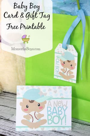 Baby Shower Card and Gift Tag Free Printable