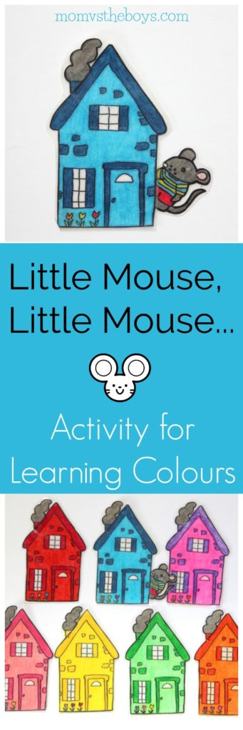 Little Mouse, Little Mouse.... Colour teaching game - Mom vs the Boys