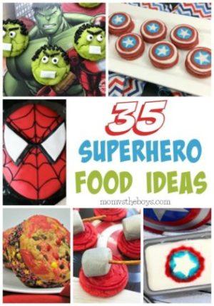 35 Superhero Food Ideas - Mom vs the Boys