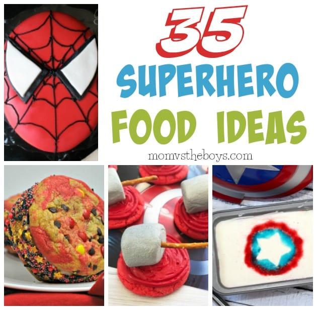 Superhero Food Ideas - Mom vs the Boys