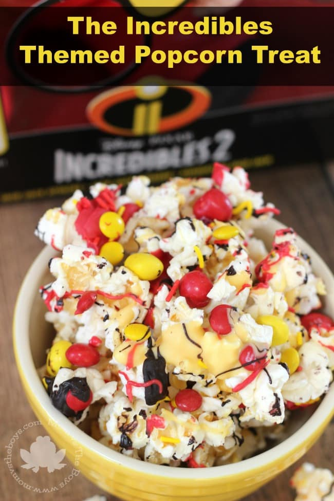 The Incredibles Themed Popcorn Treats