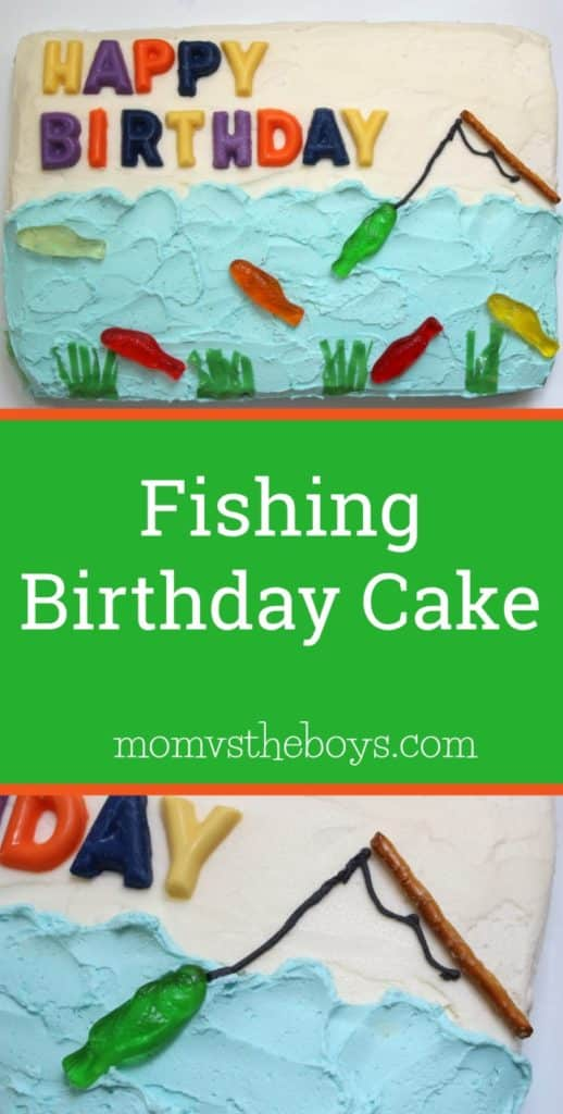Easy Fishing Cake For Summer Parties Mom Vs The Boys