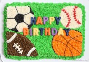 Easy Sports Cake for Birthday Celebrations