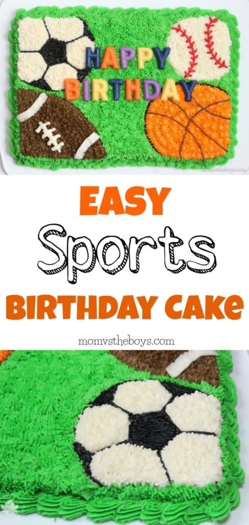 Outstanding Easy Sports Cake For Birthday Celebrations Mom Vs The Boys Funny Birthday Cards Online Elaedamsfinfo