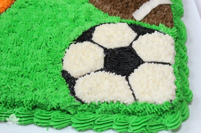 Incredible Easy Sports Cake For Birthday Celebrations Mom Vs The Boys Funny Birthday Cards Online Alyptdamsfinfo