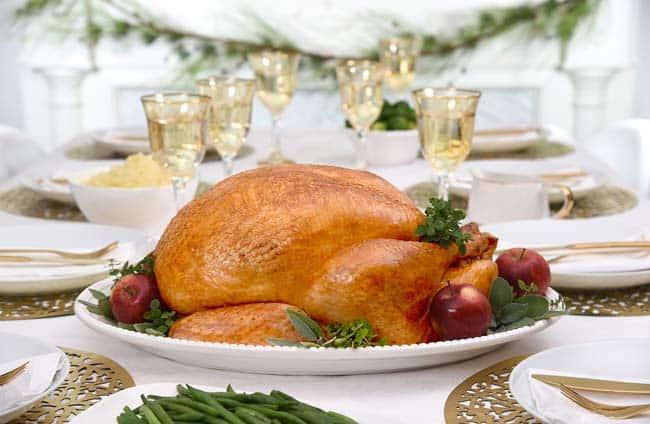 apple, sage and shallot stuffed holiday turkey