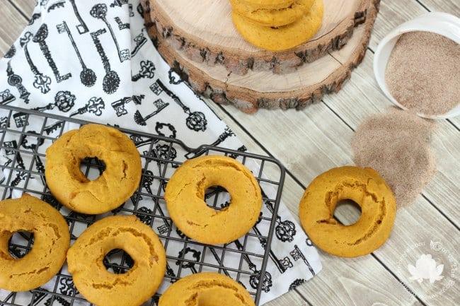 pumpkin donuts before sugar