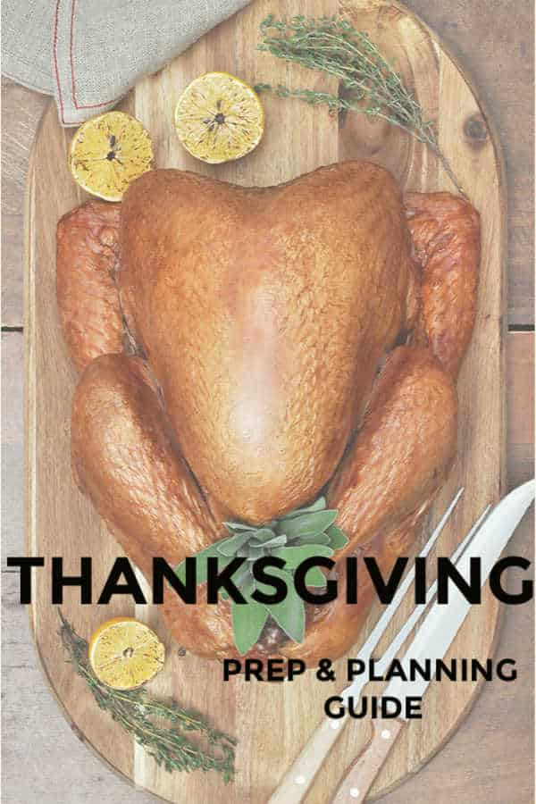 thanksgiving prep and planning