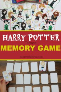 Harry Potter Themed Memory Game