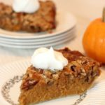 pumpkin pie with crumble topping