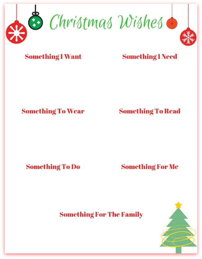 picture regarding Christmas Wish List Printable named Xmas Motivation Record Printables - 3 Designs - Mother vs the Boys