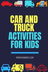 Car and Truck Activities for Preschoolers
