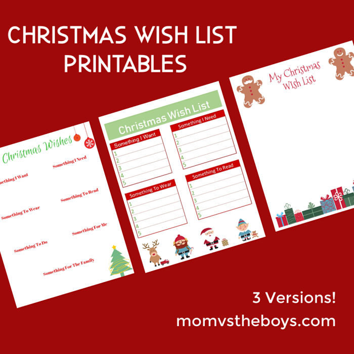 image relating to Christmas Wish List Printable known as Xmas Motivation Checklist Printables - 3 Designs - Mother vs the Boys