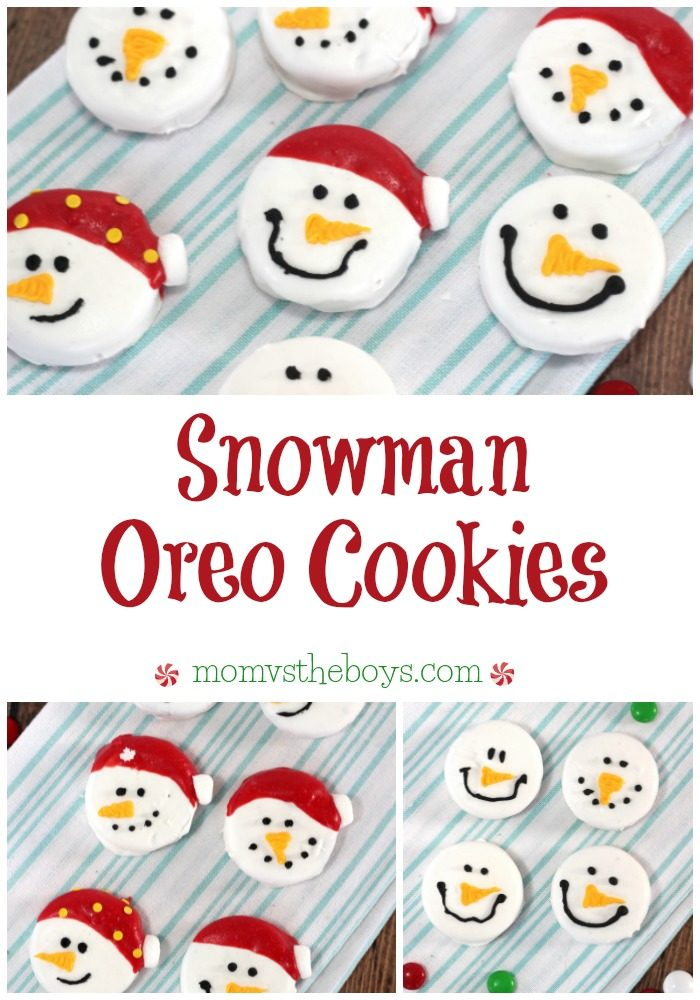Snowman Oreo Cookies are a fun addition to your Christmas cookie tray or package them up for homemade holiday gifts for friends, neighbours and teachers. They also make fun classroom party treats!