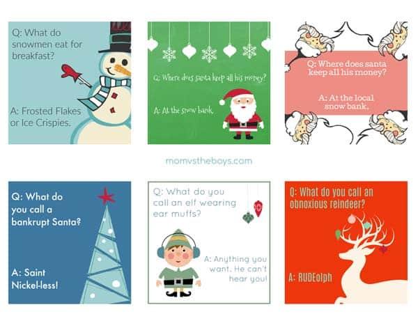 Printable Christmas Lunchbox Jokes