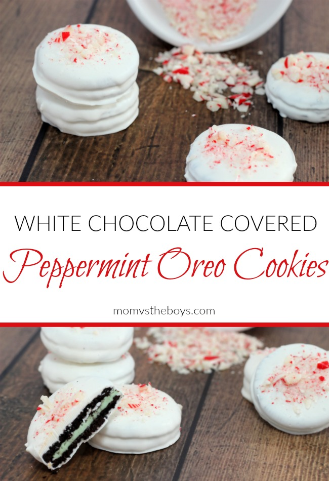 White Chocolate Covered Peppermint Oreos Mom Vs The Boys