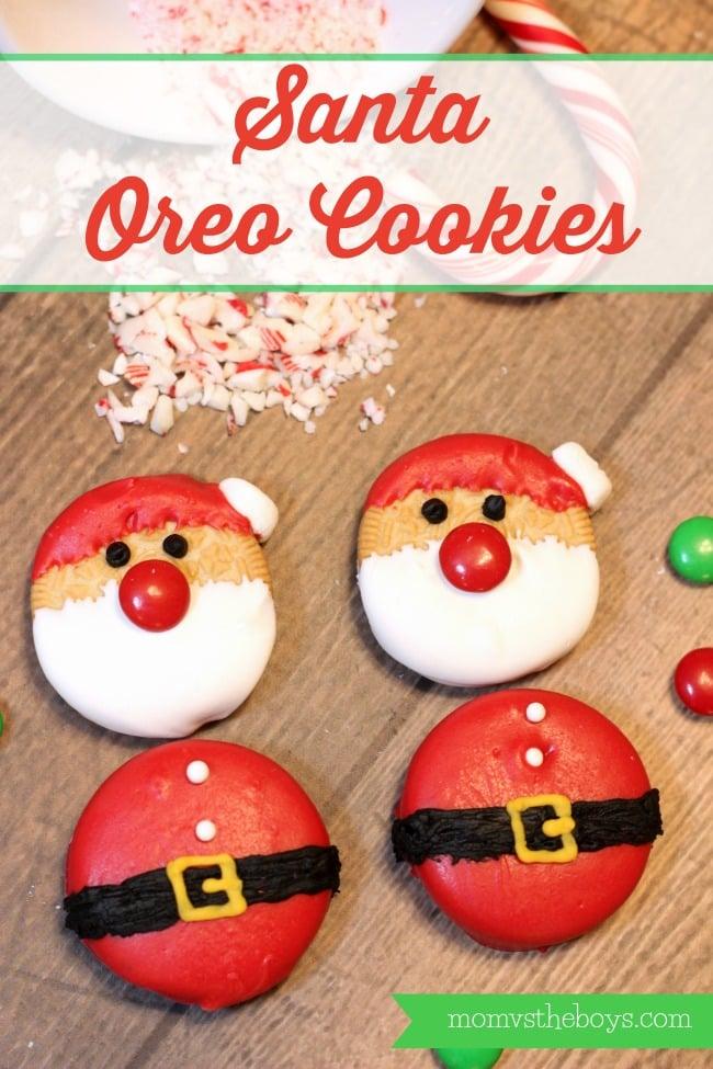 santa oreo cookies