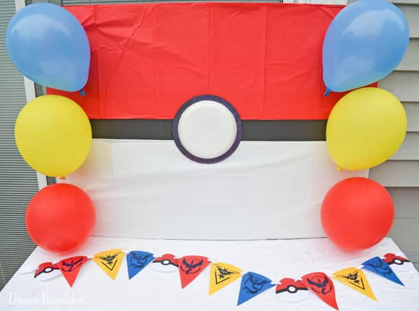 video game birthday party decoration