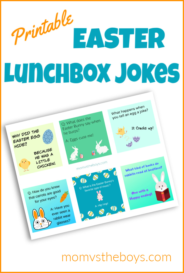 photograph about Lunch Box Jokes Printable named Absolutely free Printable Easter Lunch Box Jokes - Mother vs the Boys