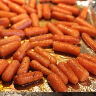 Balsamic Honey Glazed Oven Roasted Baby Carrots