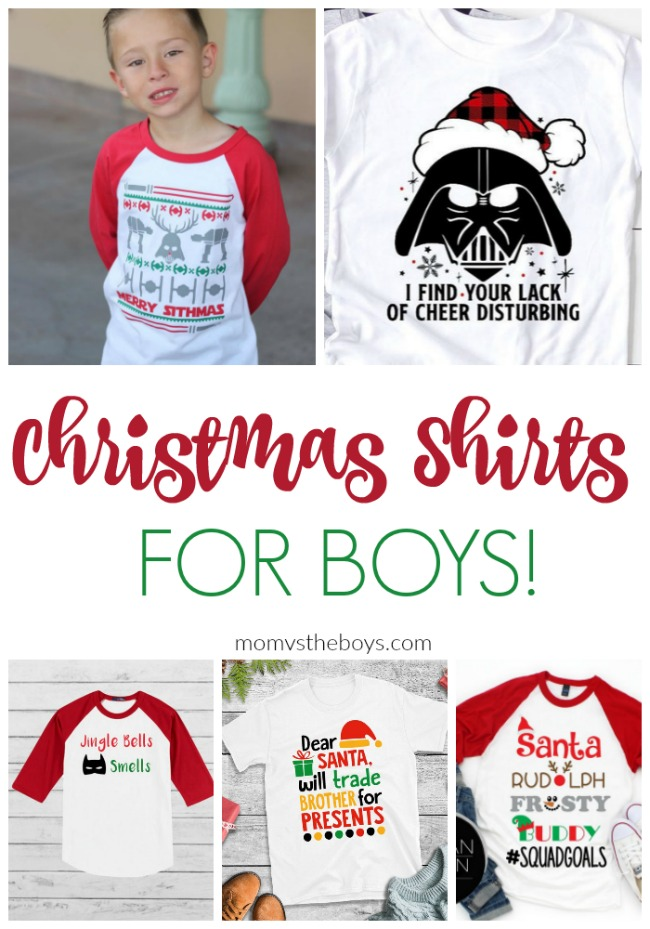 Christmas shirts for boys