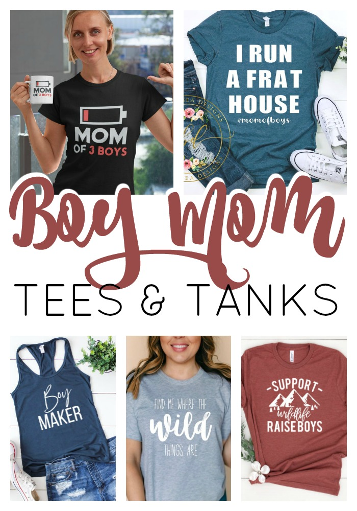 Boy mom tees and tanks